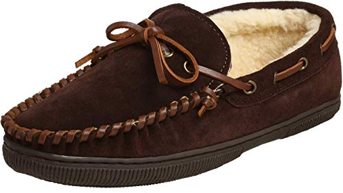 Tamarac by Slippers International Herren-Mokassin-Slipper aus Wildleder, Braun (Rootbeer), 39.5 EU