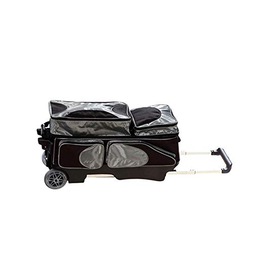 KXDLR 3 Ball in Linie Tote Rollen-Rollen-Bowling-Tasche,Grau