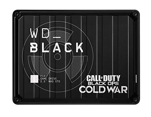 WD_BLACK 2 TB P10 Game Drive Call of Duty Edição Especial: Black Ops Cold War, disco rígido externo portátil, compatível com Playstation, Xbox e PC - WDBAZC0020BBK-WESN