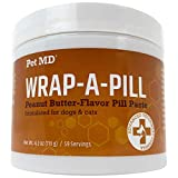 Pet MD Wrap A Pill Peanut Butter Flavored Pill Paste for Dogs - Make a Pocket to Hide Pills and Medication for Pets - 59 Servings
