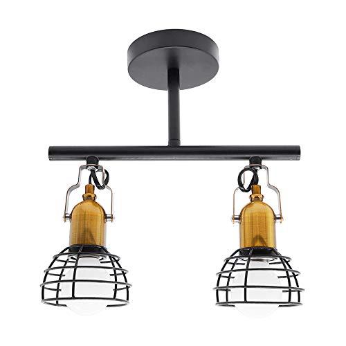 Artpad Vintage Style Metal Wandkandelaar Lamp 2 Kop Opbouwlamp met Borstel E27 Lamphouder voor Spiegel Nachtkastje Woonkamer Lamp Niet inbegrepen