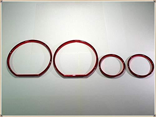 JUJIANFU WJW-YIBIAO, Dial Chrome Tachomesser Ringe gepasst for Bezel Trim Chrom Tacho Ringe gepasst for BMW E36 3er Fit for BMW Z3 (Color : RED)