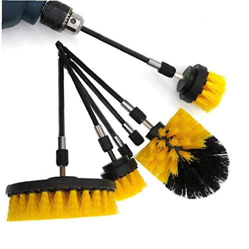 xiaocheng Perforar Cepillo Eléctrico Depurador del Equipo con Extend Adjunto Scrub Esponjas para La Limpieza del Coche Azulejos Bañera 37pcs DIY Accesorios Industriales
