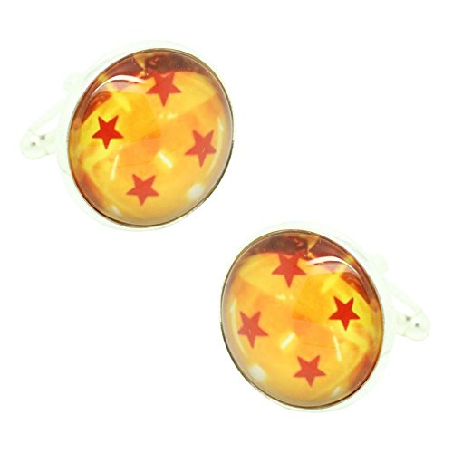 MasGemelos Boutons de manchettes motif Dragon Balls 4 étoiles