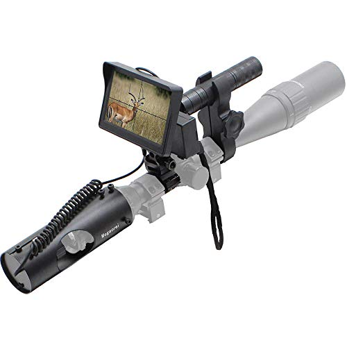 """DIY Digital Night Vision Scope for Rifle Hunting with Camera 4.3"""" Portable Display Screen and 850nm Infrared IR Illuminator Shockproof"""