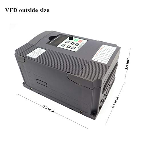 CNC 2.2KW VFD Variable Frequency Driver,PWM control spindle inverter AC220V 2.2KW Single Phase Input Three-phase Output(VFD-2.2KW)