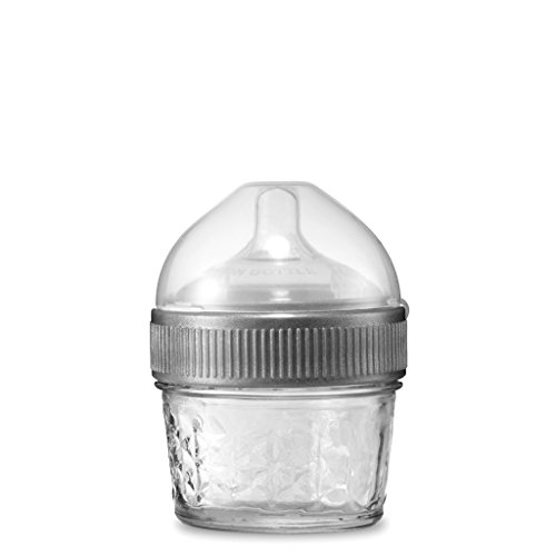 4 Ounce Original Mason Bottle: The Glass Baby Bottle Made with Mason Jars, Comes with Slow Flow Nipple, Made in The USA