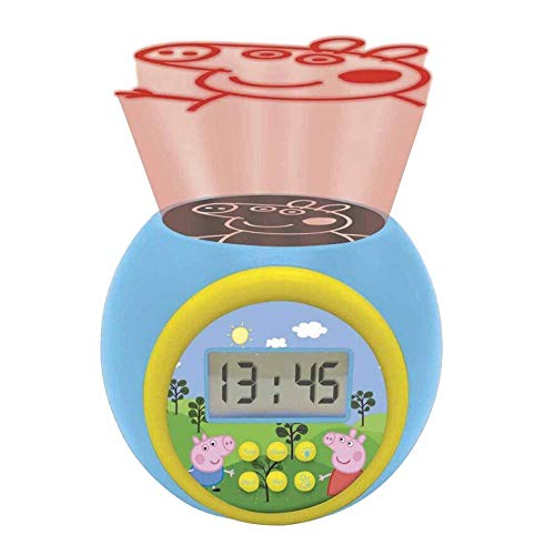LEXIBOOK- Reloj Despertador con proyector Peppa Pig con func