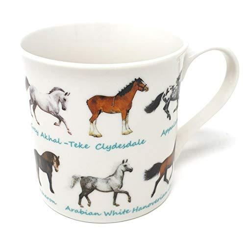 Lesser & Pavey Hübsche Tasse Pferde in Einem Geschenkkarton - Höhe 8,2 cm