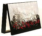 Cuadroexpres -Cubre Contador Pintada a Mano 22x37x4 cm (Interior) Caja Decorativa para el Cuadro eléctrico. En Melamina Negra. Cierre de imán y Tornillos para Fijar en la Pared