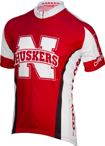 Adrenaline Promotions Nebraska Cycling Jersey, Red, Small