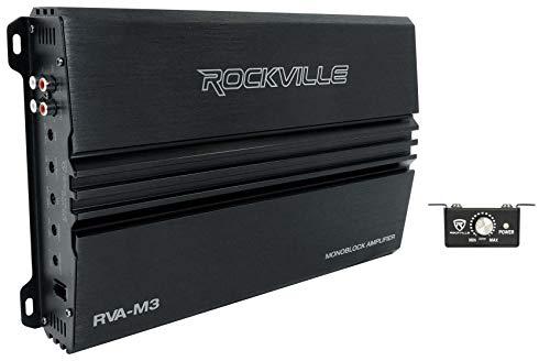 Rockville RVA-M3 4000w Peak/1000w CEA RMS @ 1 Ohm Amplifier Mono Car Amp+Remote