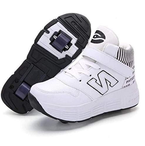 nnn Skateboardschoenen, sportschoenen, skateboard, kinderen, meisjes, jongens, ademend, vrijetijdsschoen, met 2 wielen, gymnastiek, hardloopschoenen, sneakers, wieltjes