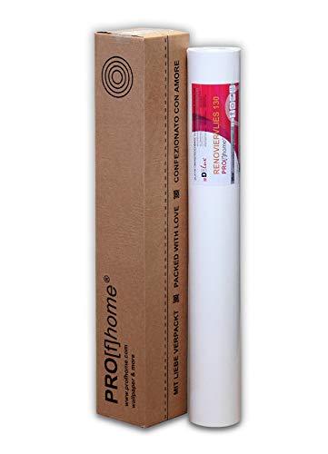 1 Rolle 25 Meter Malervlies Renoviervlies glattes Vlies Objektvlies Vliestapete zum Überstreichen weiß 130 g | 18,75 qm - 2