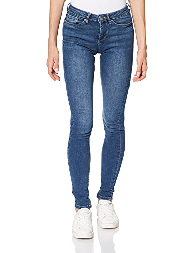 Springfield Slim Dit Denim Pantalones, Azul Medio, 36 para Mujer