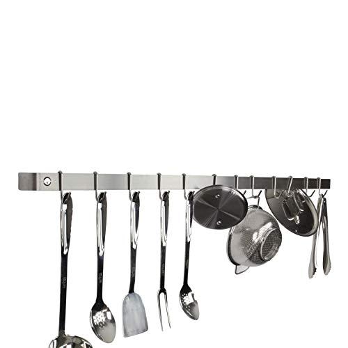 Enclume Premier 48-Inch Utensil Bar Wall Pot Rack Stainless Steel