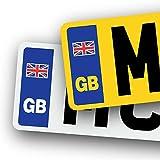 MCR Prints Pegatinas de vinilo para placa de matrícula de coche con texto en inglés 'Union Jack', sin bandera de la Unión Europea Brexit'