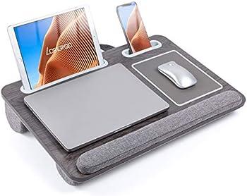 LORYERGO Lap Desk for Bed w/ Wrist Rest & Mouse Pad