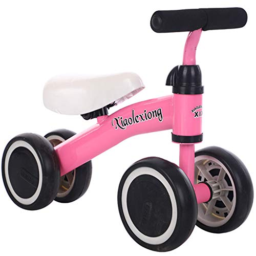 YQYM Baby Balance Bikes, Baby Toys Walker, No Pedal Infant 4 Wheels Toddler Bicycle, Best First Birthday New Year Holiday Toy Gifts