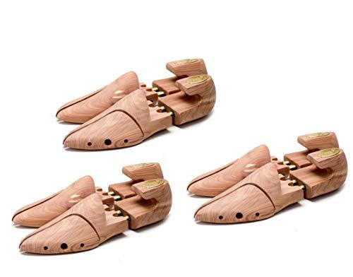 Seeadler Premium Schuhspanner aus kanadischem Zedernholz - Original St. John Edition für Herrenschuhe in Gr. 39-3-er Set II.Wahl