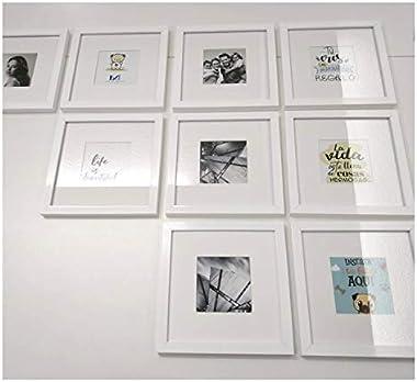 Hermoso Gallery Wall DE 9 Marcos Blancos con Cristal Y Maria Luisa, Collage