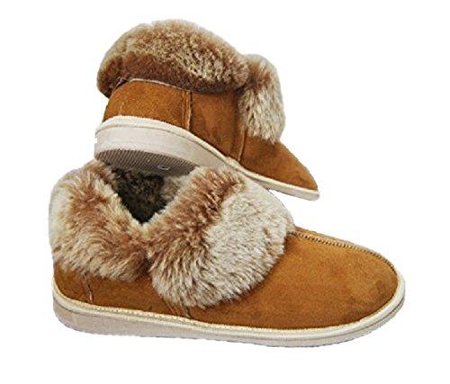 Merino Wool - Zapatillas de Estar por casa de Piel de Borrego para Mujer Marrón marrón 39 EUR