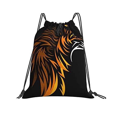 Bolsa clásica con cordón tribal Fox Gym Sack Bag Mochila con cordón de poliéster para hombres y mujeres