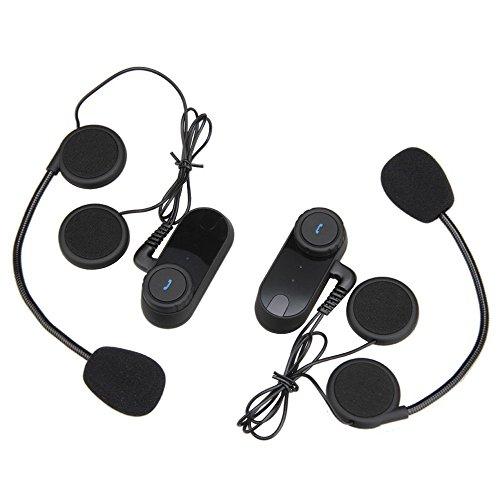 T-Com VB Dual motocicleta casco Bluetooth auricular con micrófono Recibir el mensaje de navegación de audio crystal clear Calidad de voz