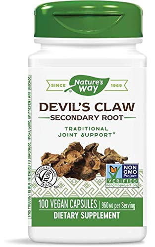 Nature's Way Devils Claw Root, 960mg per Serving, 100 Capsules (Pack of 2)