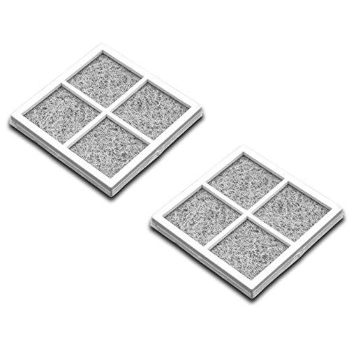 vhbw 2x filtro compatibile con LG GMM916NSHV, GMM916NSHZ, GS9166AEJZ, GS9366NECZ, GS9366NEDZ, GS9366NEQZ frigorifero - filtro ai carboni attivi