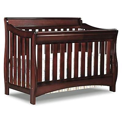 Delta Children Bentley S Series 4-in-1 Convertible Baby Crib, Black Cherry Espresso from Delta Children