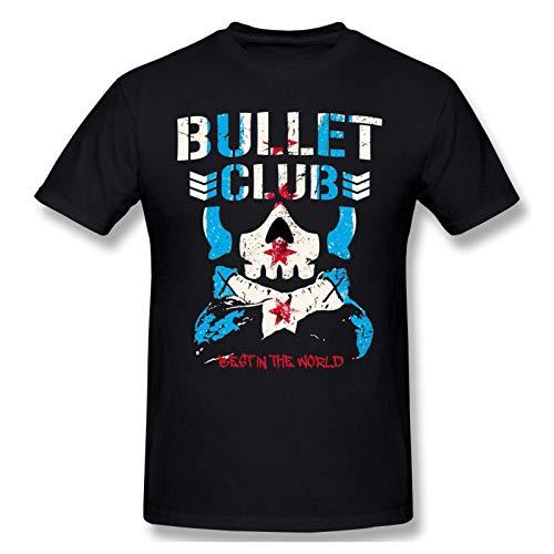 Bullet Club - Camiseta de Manga Corta de Algod¨®n a la Moda para Hombres y j¨®Venes, Camiseta gr¨¢fica Grande