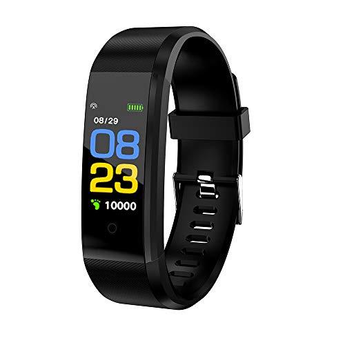 Cucudy Smartband,Smartwatch com funções Heart Rate Monitoramento de Pressão Arterial Calorie Aptidão À Prova D 'Água BT Alarm Esportes de fitness Rastreador de atividades para Android/iOS (5 cores)