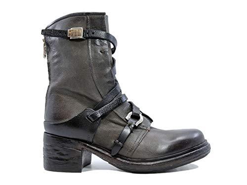 A.S. 98 261242 Damen Stiefelette Leder Grau, Smoke - Größe: 36 EU