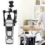 Zwinner Pedal Simple para batería, Pedal de batería Negro, para Bateristas Profesionales Que tocan los Amantes de la batería
