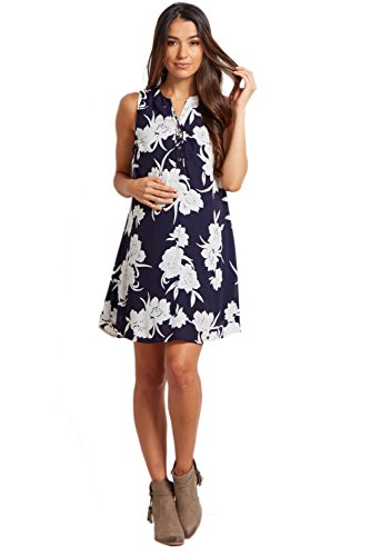 PinkBlush Maternity Navy Floral Maternity Dress