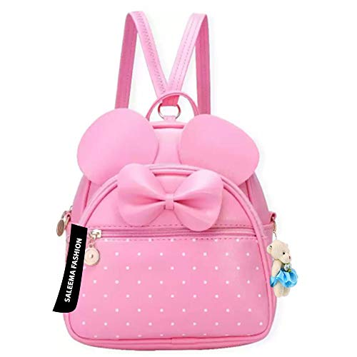 Sleema Fashion Cute Small Cat Style Backpack for Girls (Cute Pink Backpack) (Pink)