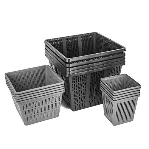 Interflowers GmbH PFLANZKORB Set PFLANZHILFE Wasserpflanzen Verschiedene Größen ideal für Gartenteich - gut geeignet für Teichplfanzen wie Seerosen Teichpflanzen Korb, Wasserpflanzen Teich (Set 2)