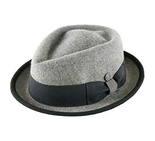 DASMARCA - Chapeau Porkpie Feutre - 5 Coloris - Homme Jackson - Taille L - Cloud