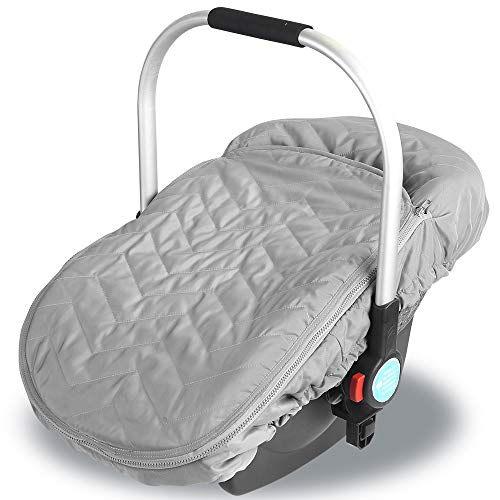 Baby Winter Thick Cosy Carseat Cover:Infant Carrier Canopy Keeping Your Baby Warm in Cold Weather and Provent Pollen Allergies for Babies(0-6 Months)