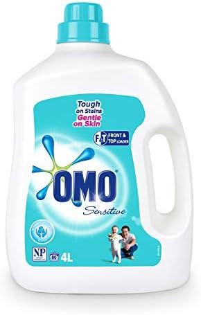 Omo Sensitive Laundry Liquid Detergent Front & Top Loader 4L