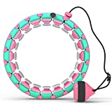 Hula Weighted Hoops,Hula Smart Hoops for Adults Weight Loss, Hula Weighted Hoop Plus Size Hula Fitness Exercise Hoop 31 Detachable and Adjustable Weight and Rotation Smart Hoop