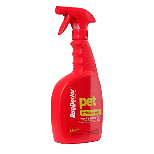 Rug Doctor Pet Stain Remover Spray Permanently Eliminates Odors Pro Enzymatic Technology Activates via Foaming Power, 24 Ounce