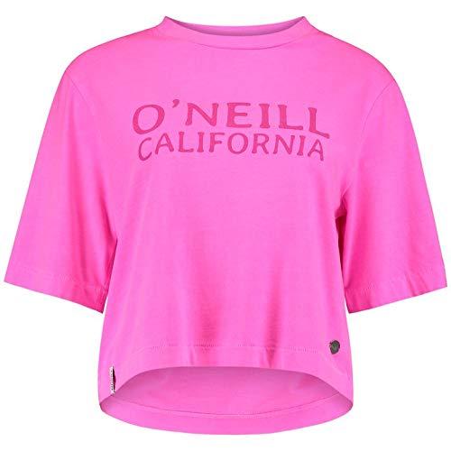 O'NEILL LW Cropped Big Logo T-Shirt Camiseta Manga Corta Mujer, Pink Peacock, XL