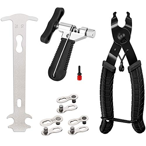 Aspiree Fahrradkettenzange,Fahrrad Kettenwerkzeug Kettennieter,Kettennieter Fahrrad für 7-12 Fach Fahrradkette Kettennietdrücker Ketten Entferner und Fahrrad Reparatur Werkzeug Set