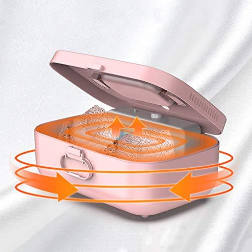 Sisyria Desinfectante Hogar Secador De Caja para Las Claves De Cepillos De Dientes Los Teléfonos Celulares Y Otros Objetos Personales, La Luz UV Esterilización Caja De Color Rosa