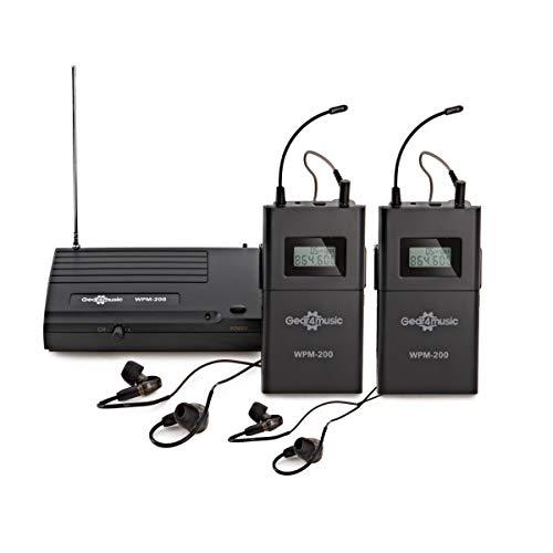 Sistema In Ear Monitor Wireless di Gear4music Pacchetto con 2 Ricevitori