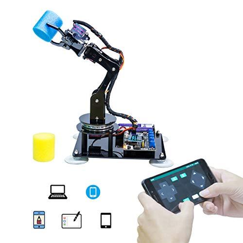 KAVOO 5-DOF Robot Arm 5Axis Robotic Arm Kit for Arduino IDE   Programmable Robot DIY Coding Robot Kit with PDF