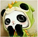Diy Nacional Tesoro Panda Dibujos Animados Lindo Mascota Diamante Pintura Animal 5D Bordado Set Ronda Mosaico De Punto De Cruz Decoración Del Hogar Mural 40X50Cm