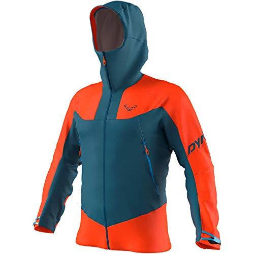 DYNAFIT M Radical 2 Gore-Tex Jacket Colorblock-Blau-Orange, Herren Gore-Tex Regenjacke, Größe S - Farbe Dawn